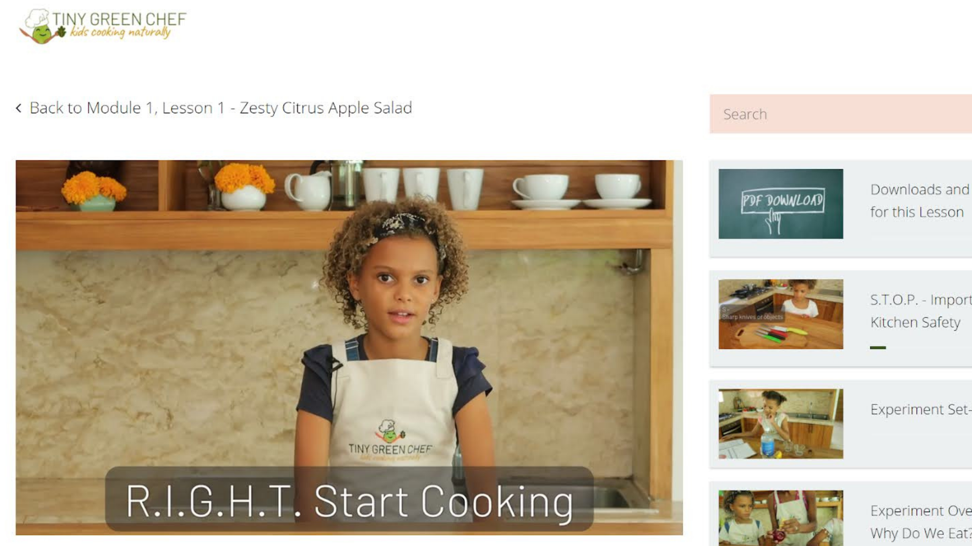 Cooking Classes for Kids at Tiny Green Chef