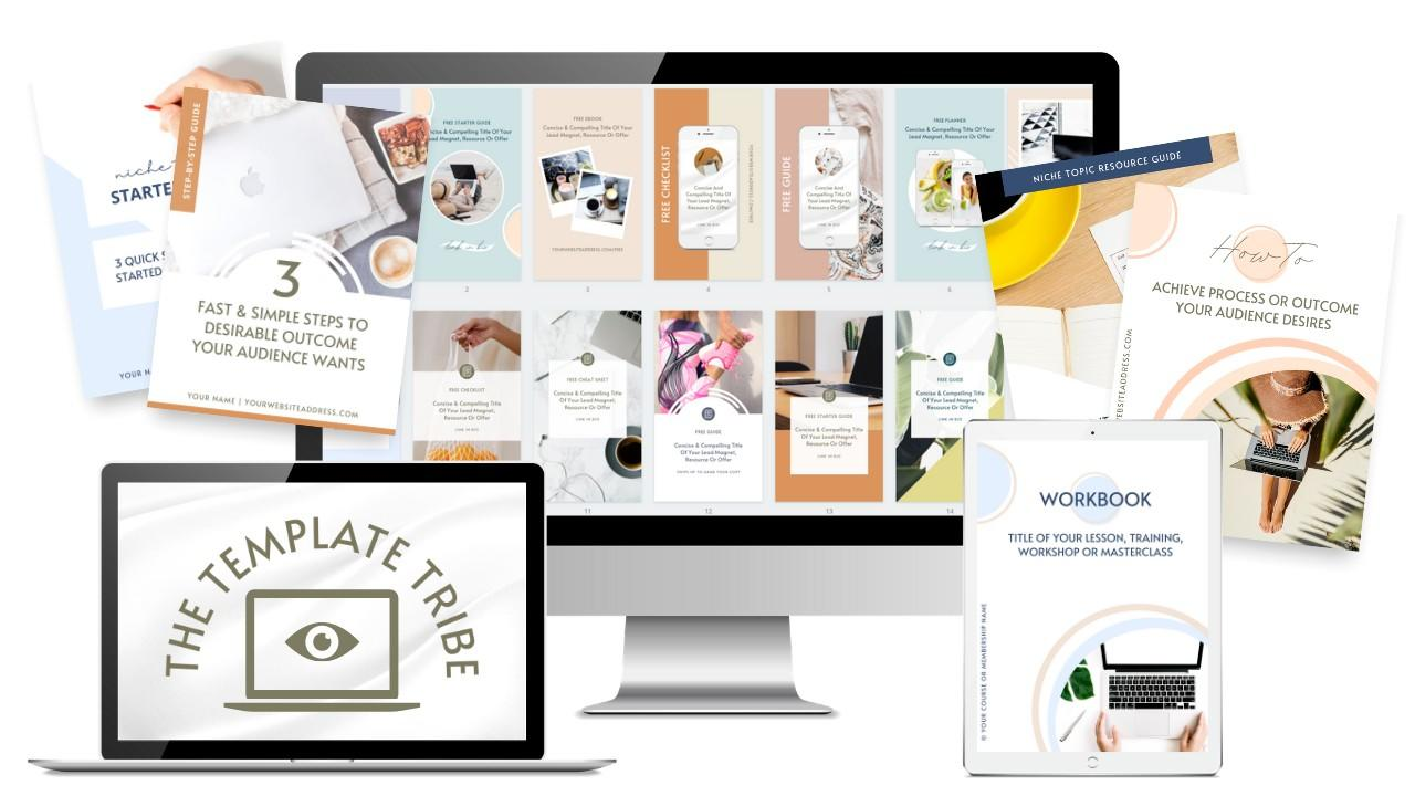 The Template Tribe Canva Templates
