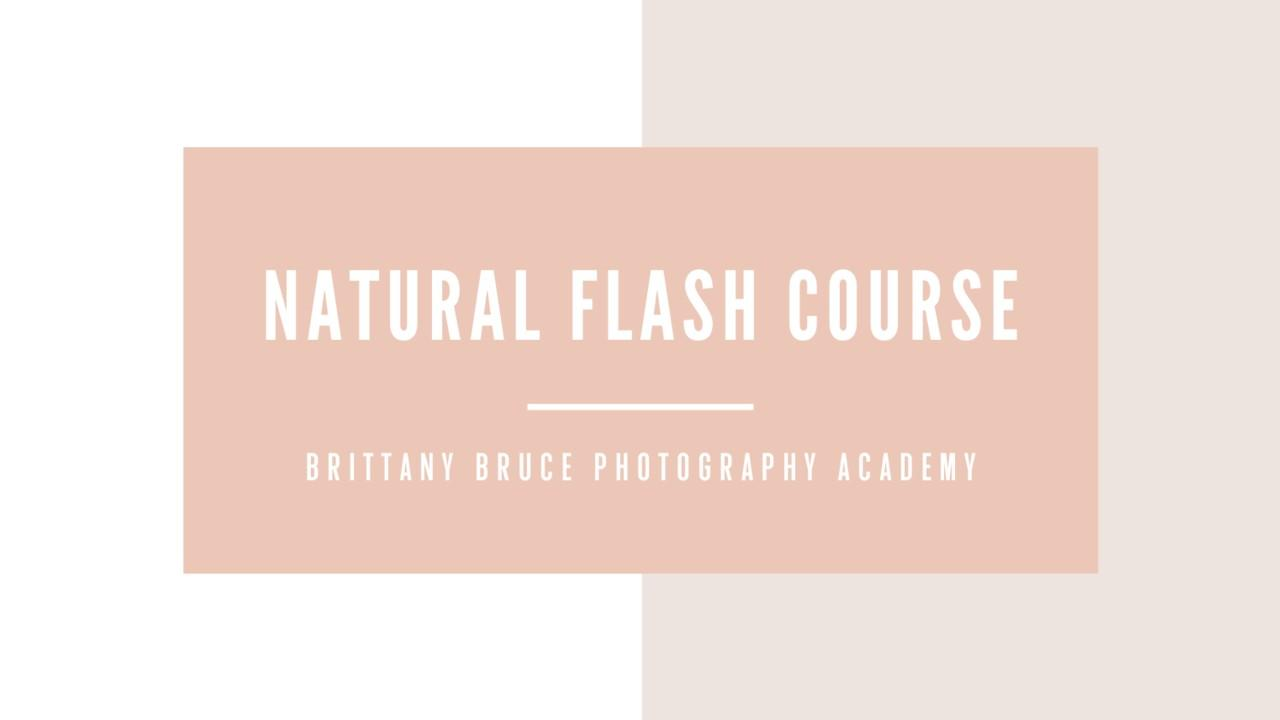 the natural flash course for photographers