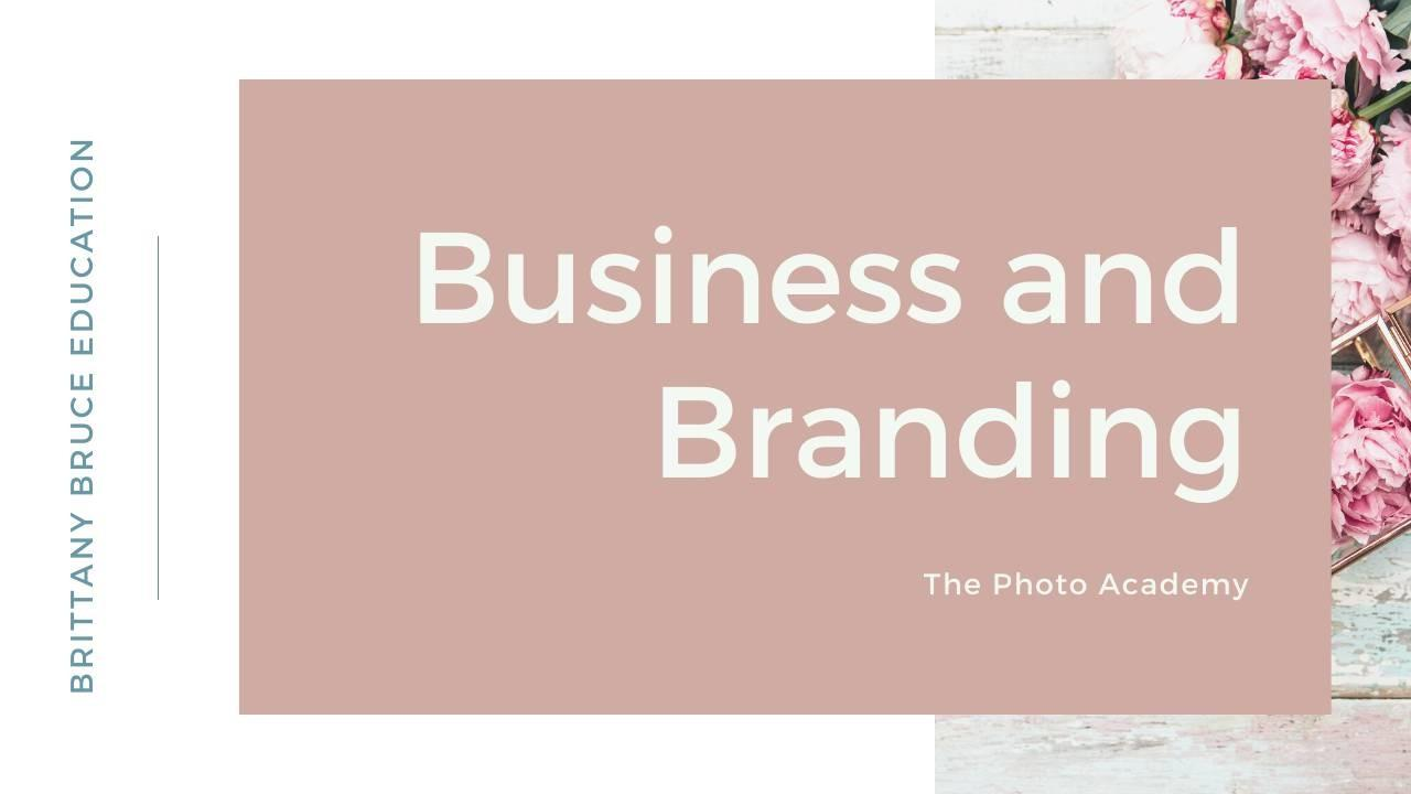 the business and branding course for photographers