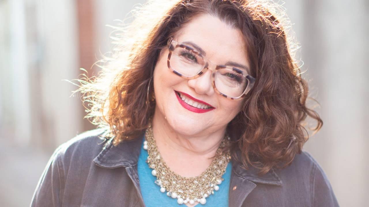 Tonya Kubo speaking at Christian Podcast Summit