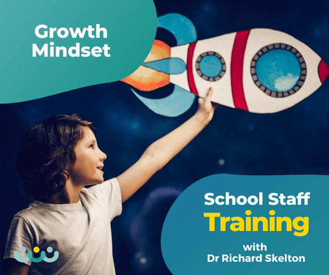 Growth Mindset course boy holding rocket