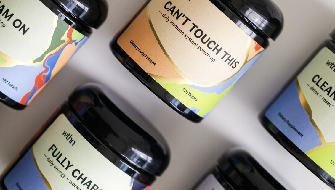wthn herbal supplements photography design