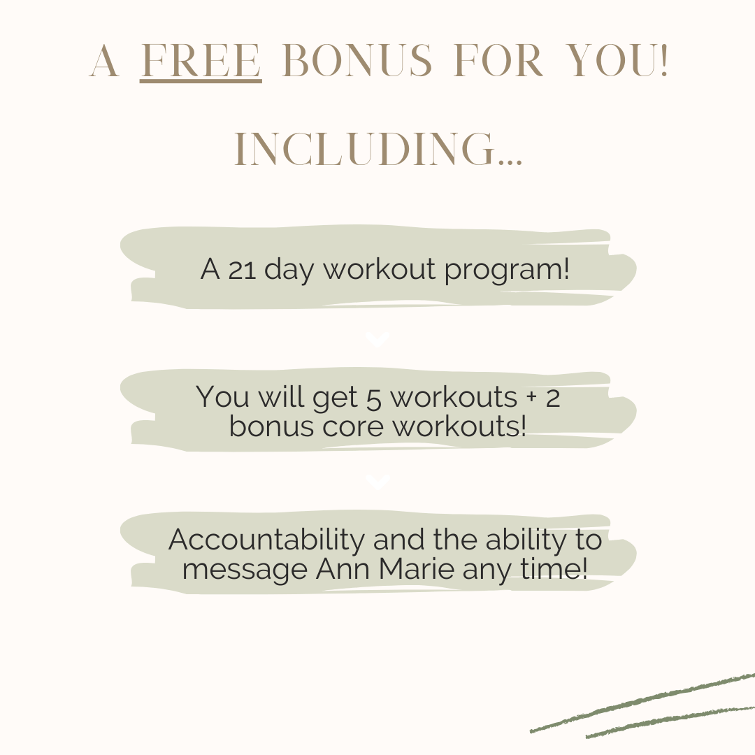 The KB Code wellness program includes a 21 day workout program.