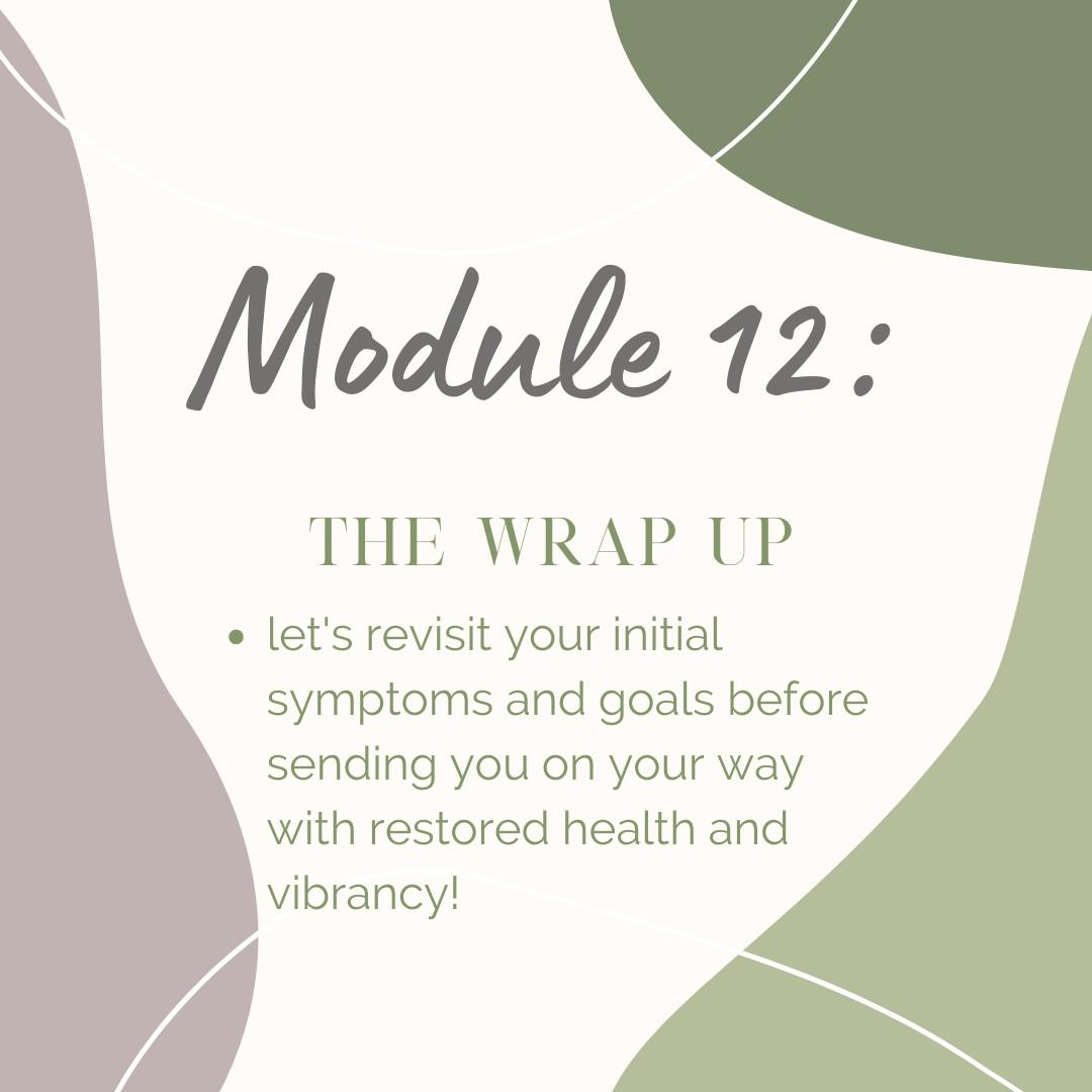 Module 12: The wrap up