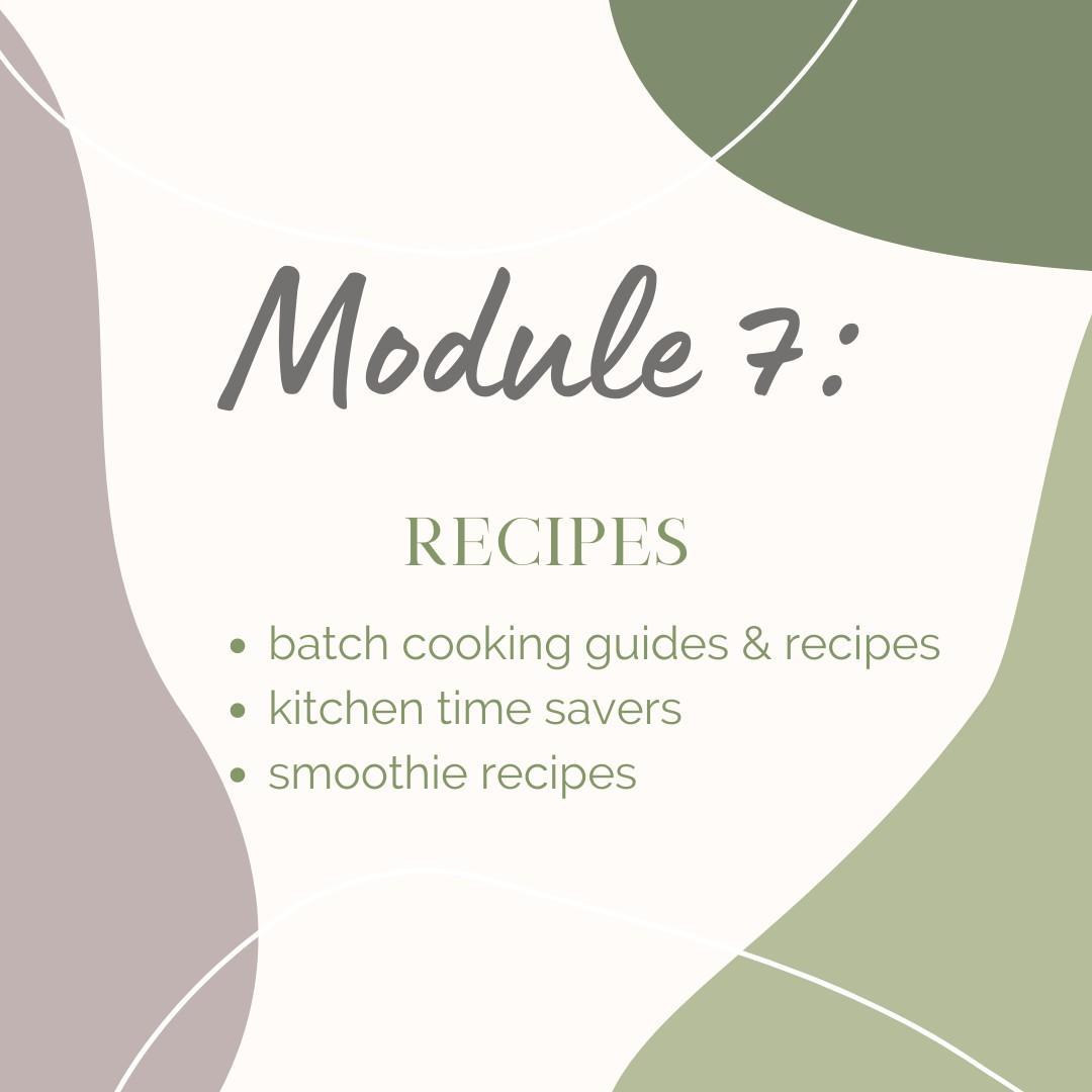 Module 7: Recipes