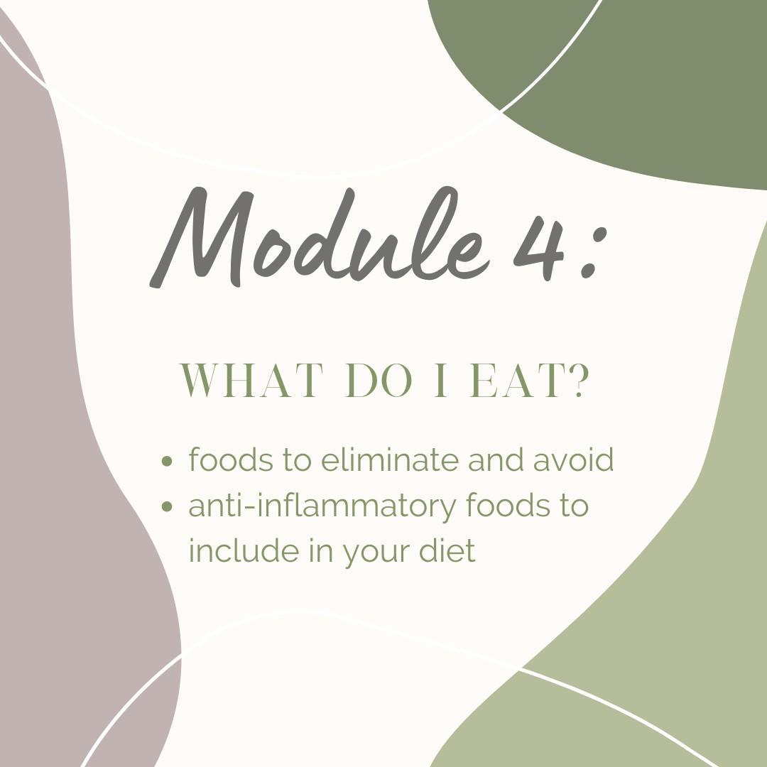 Module 4: What do I eat?