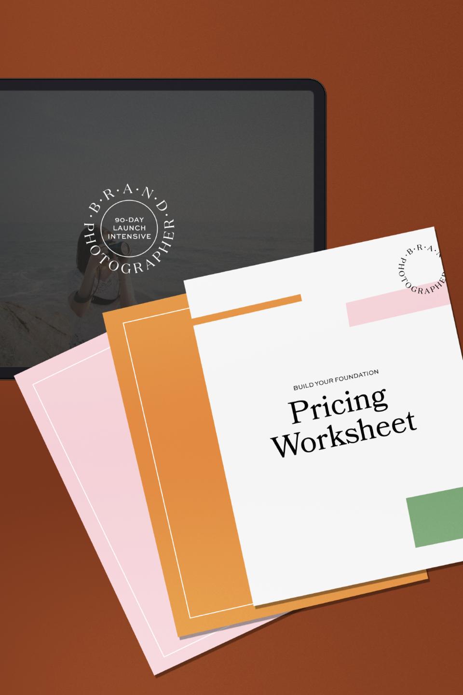 the brand photographer method pricing worksheet design