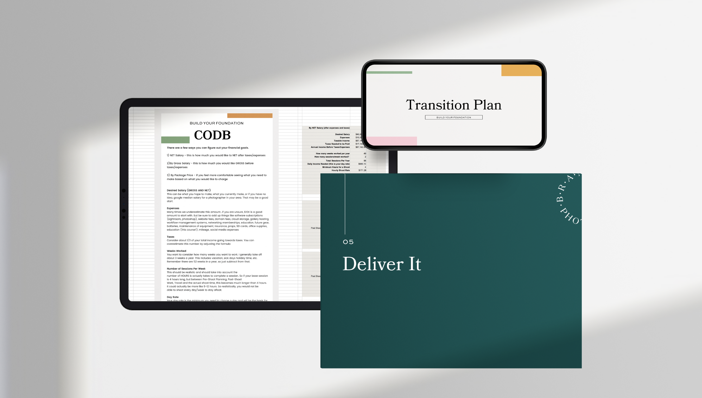 the brand photographer method course workbook design