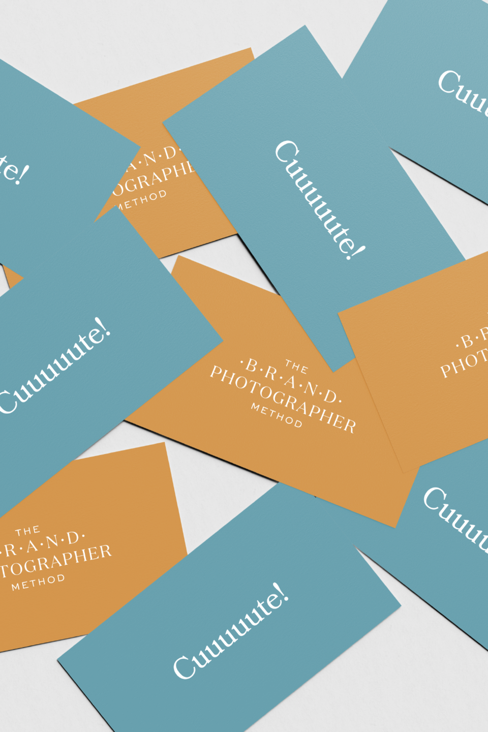 the brand photographer method pricing cards design