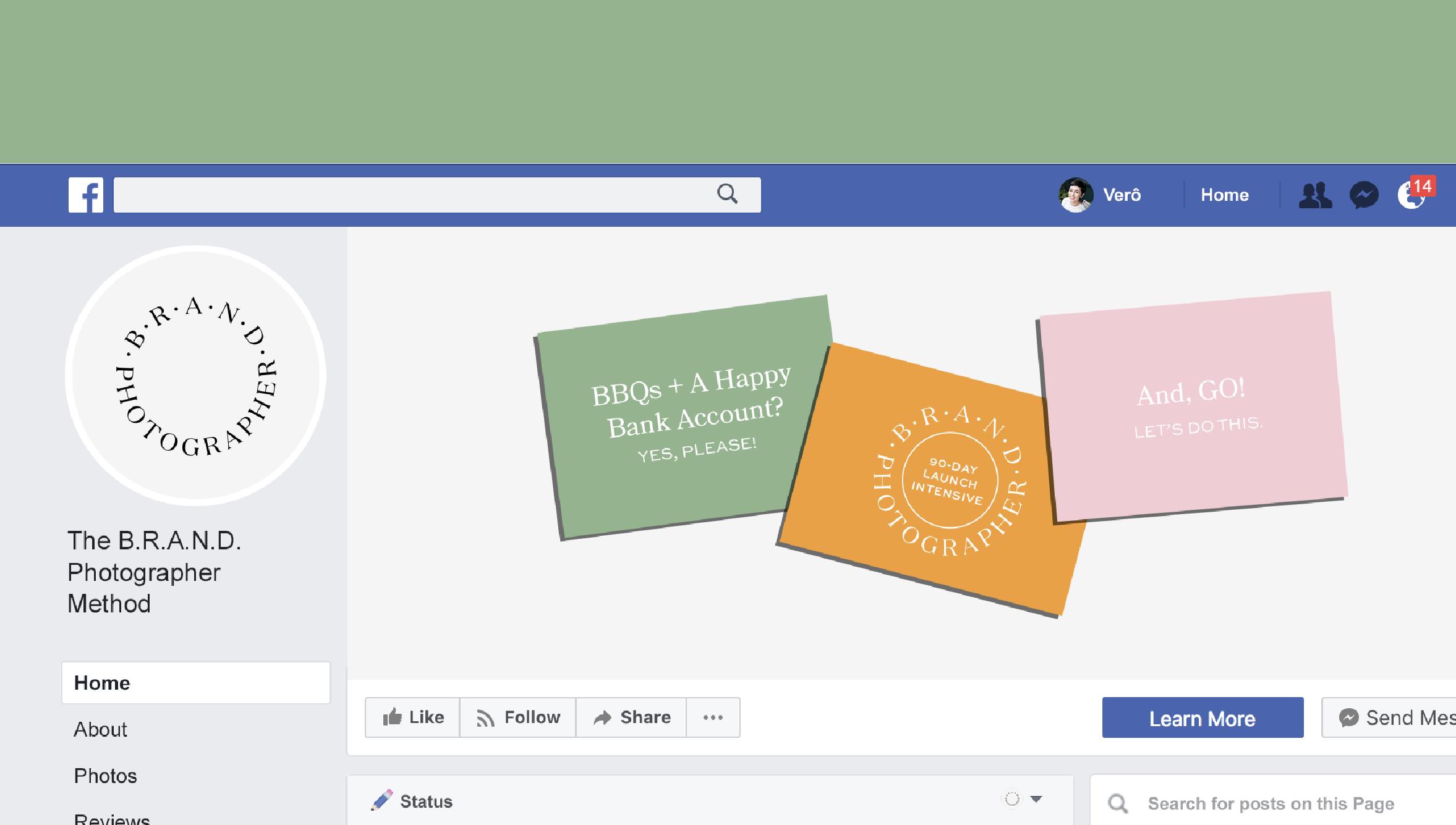 the brand photographer method facebook design