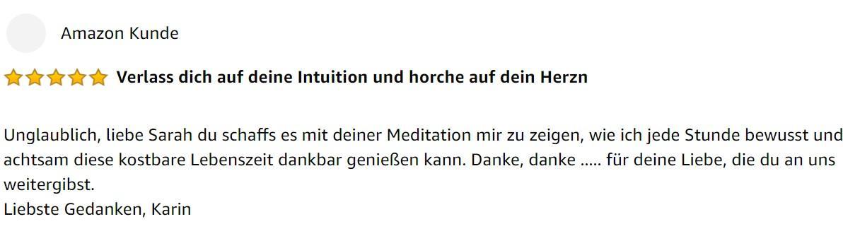 Feedback fuer Sarah Meditations-CD