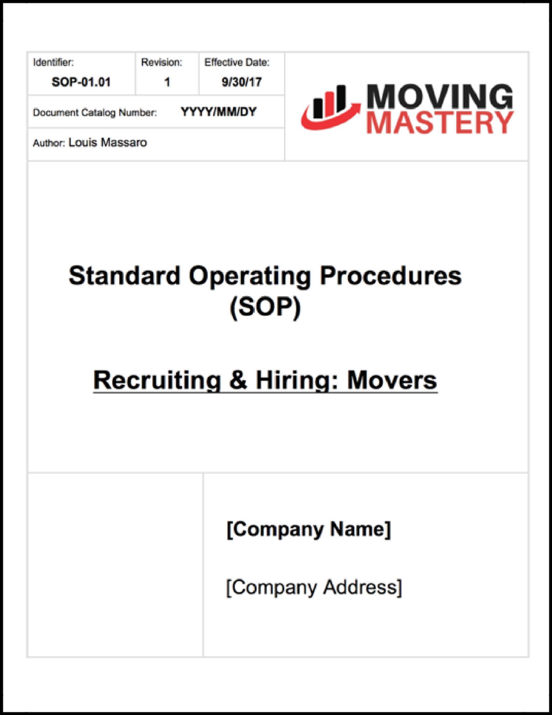 standard operating procedures document