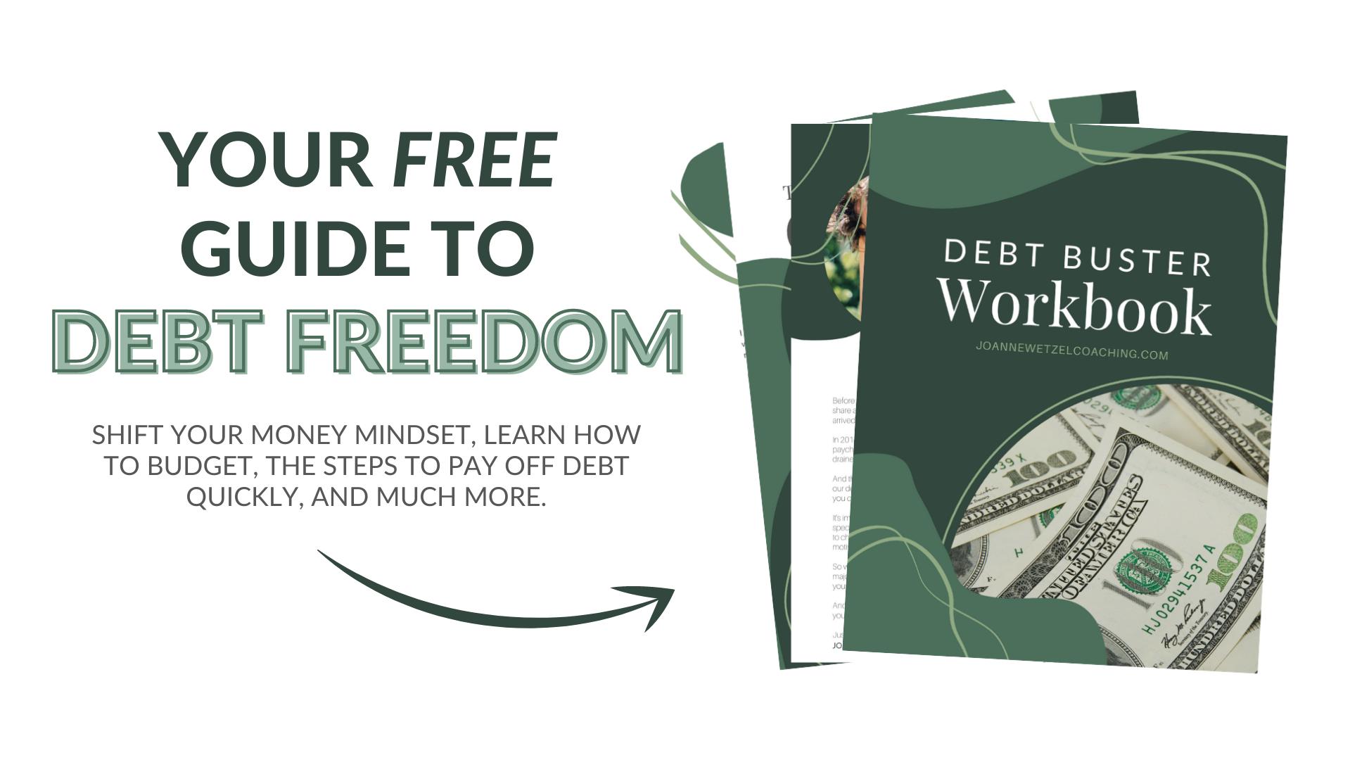 paying-off-debt-becoming-debt-free-workbook-joanne-wetzel-money-mindset-coach
