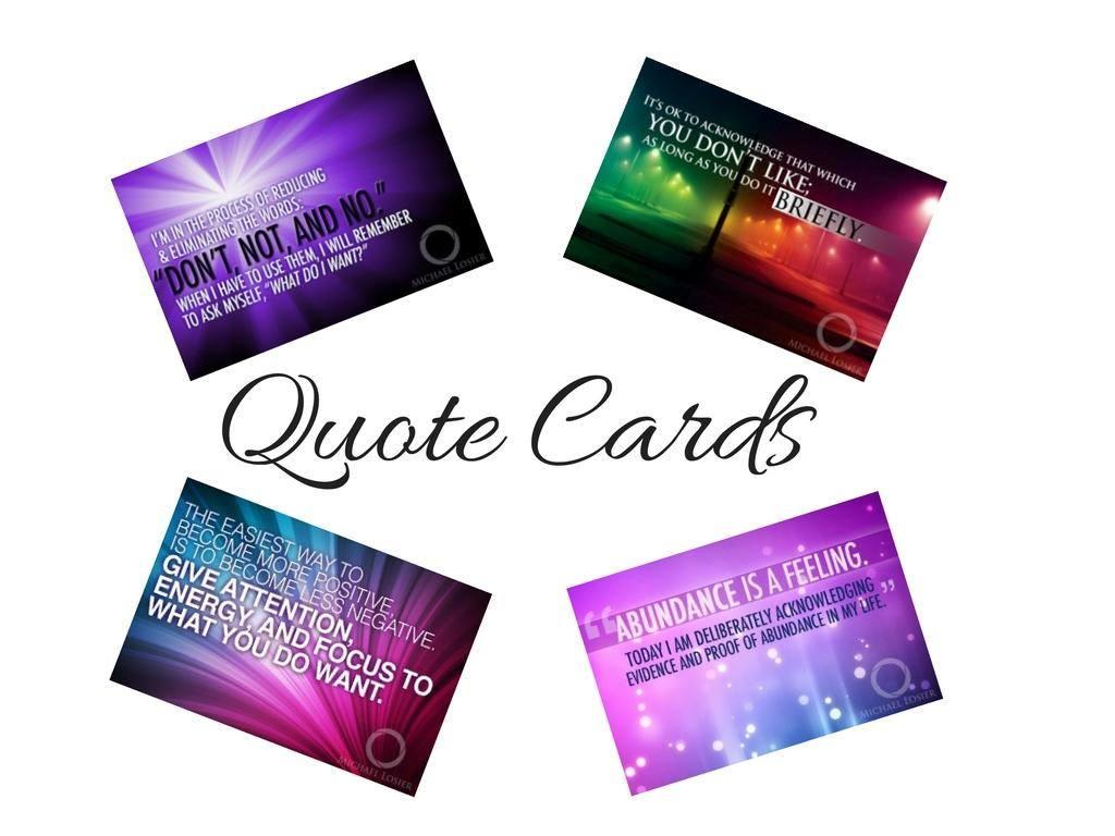 Michael Losieru0027s Quote Cards
