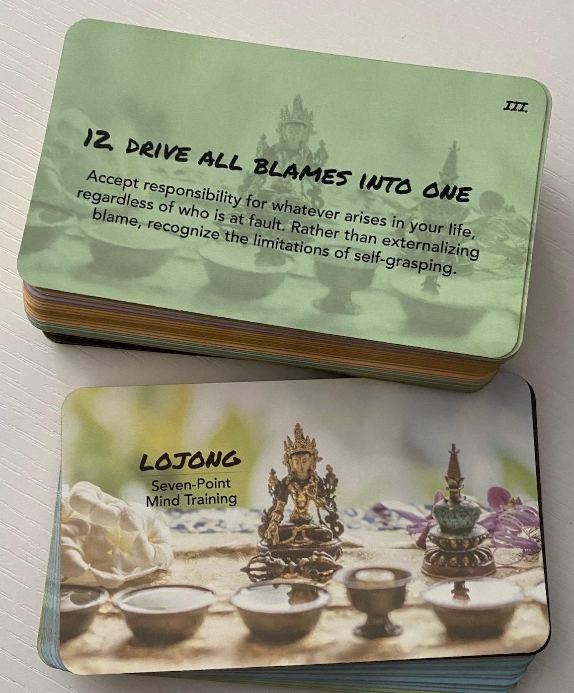 Lojong slogan card deck