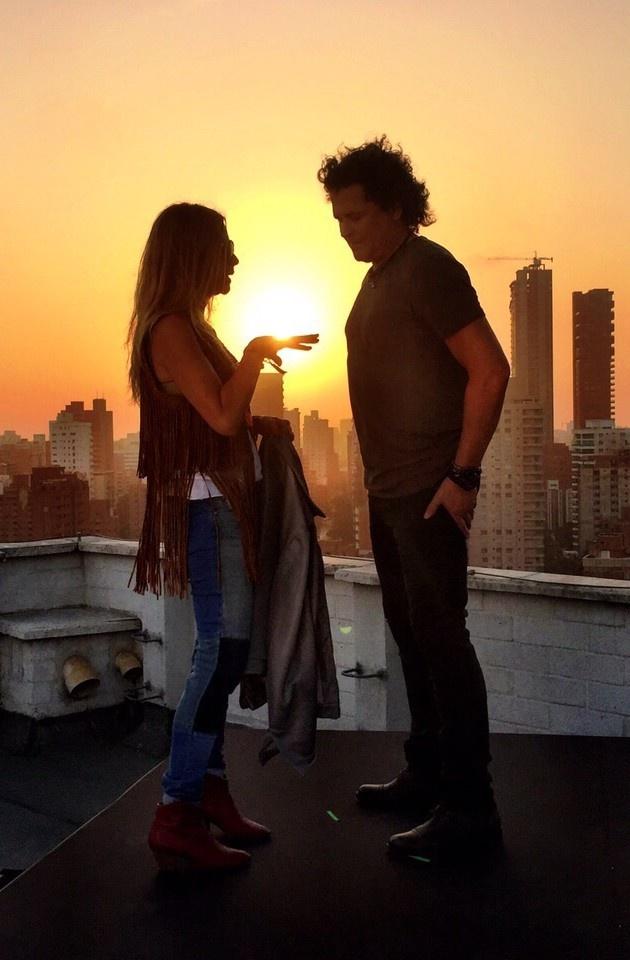Irma Martinez y Carlos Vives