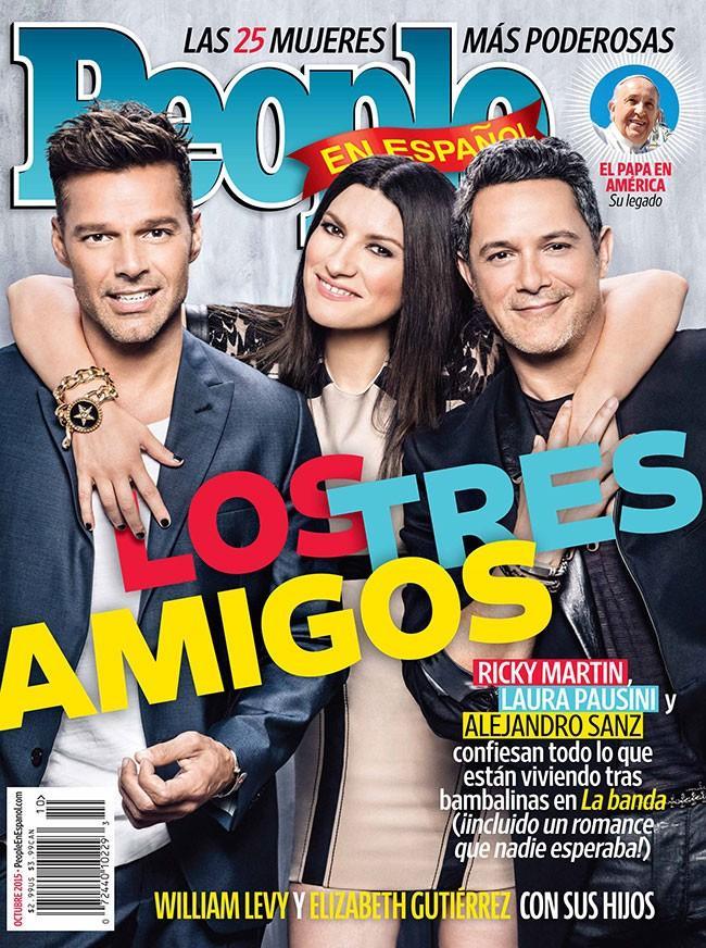 Laura Pausino, Alejandro Sanz y Ricky Martin en People en Español