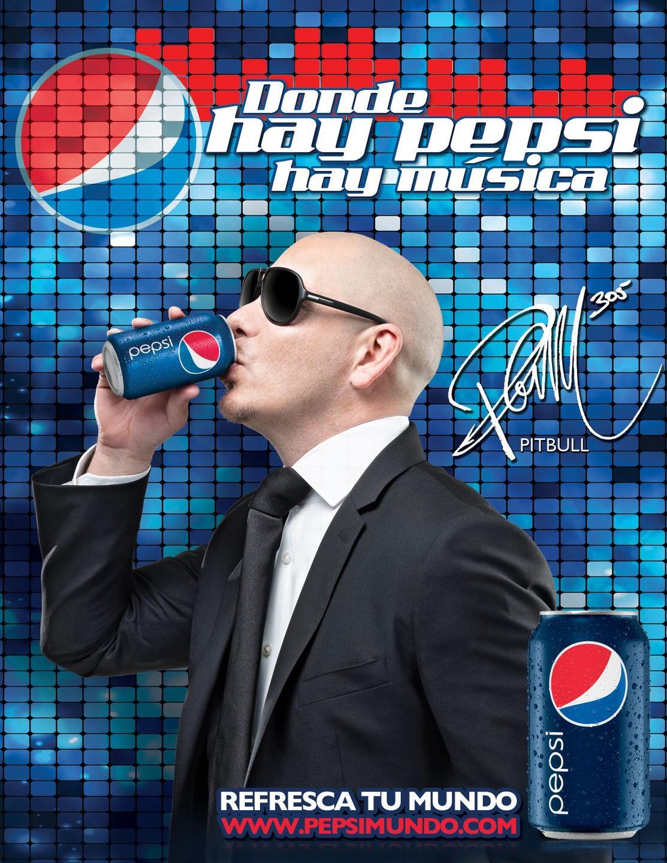 Pitbull con Pepsi
