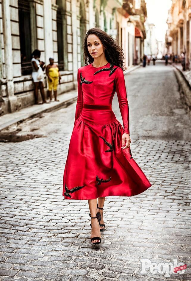 Zoe Saldana en Cuba en People en Español