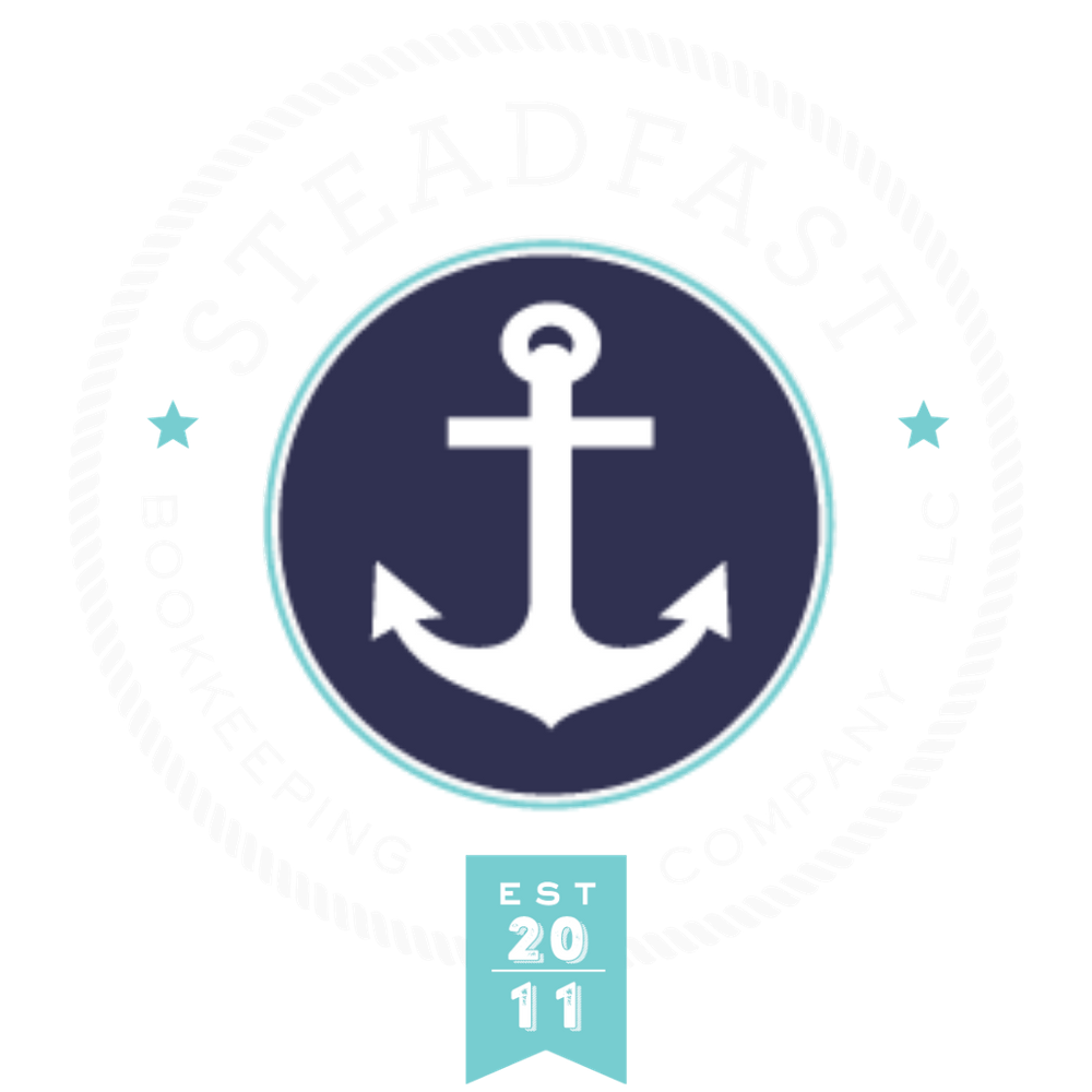 Steadfast Bookkeeping Company with an anchor