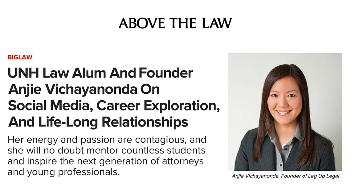 Above the Law - UNH Law Alum and Founder Anjie Vichayanonda on Social Media, Career Exploration, and Life-Long Relationships