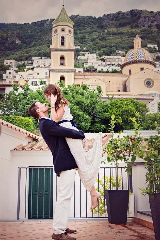 Real Wedding Abroad Couple