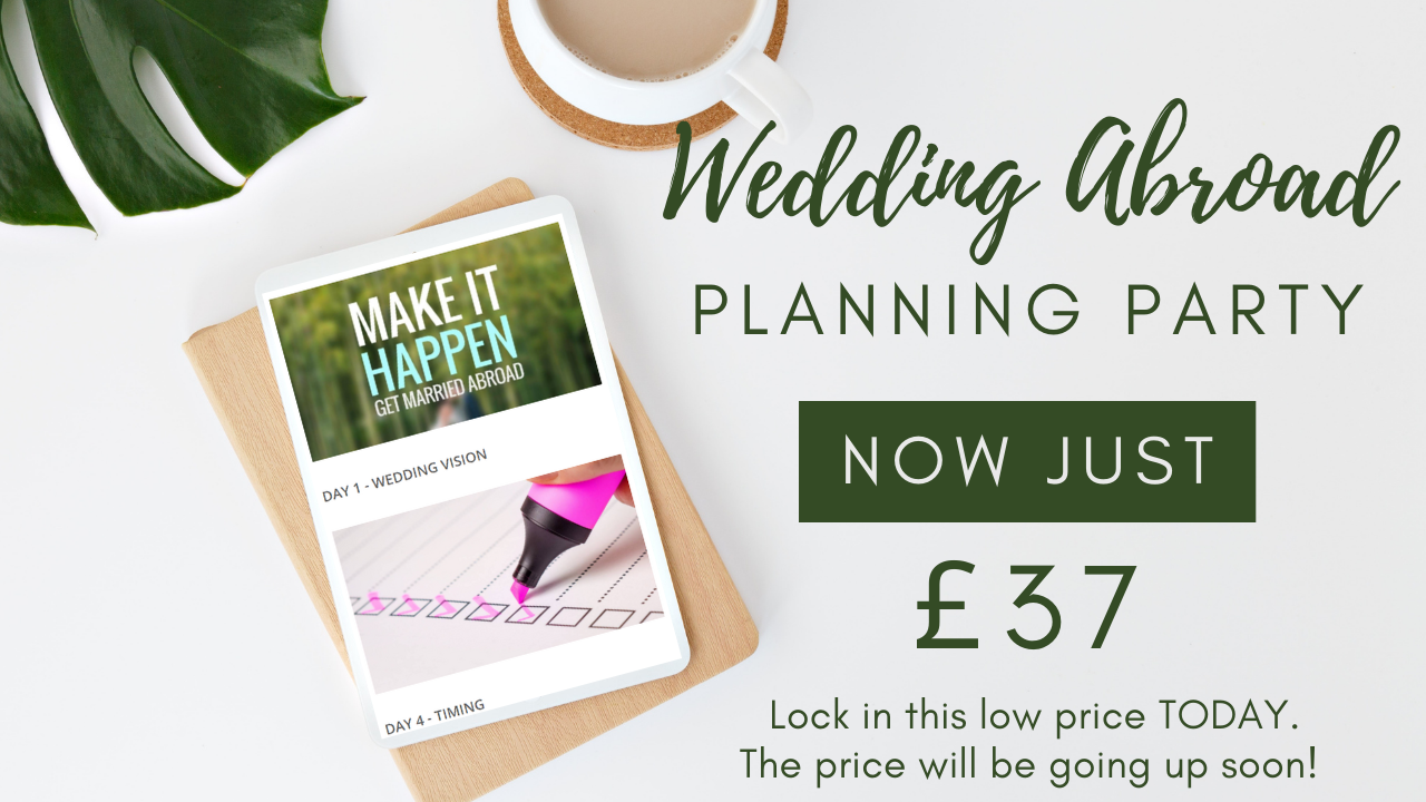 Join he Wedding Abroad Planning Party