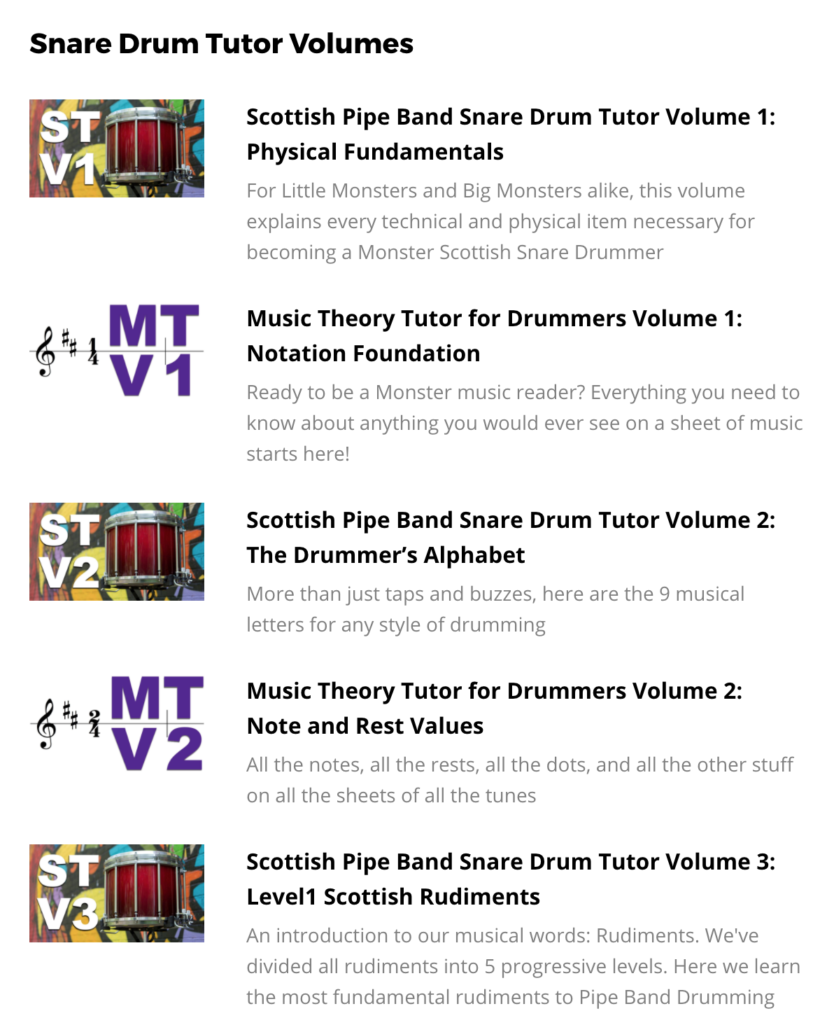 Rhythm Monster, your online resource for Scottish Drumming