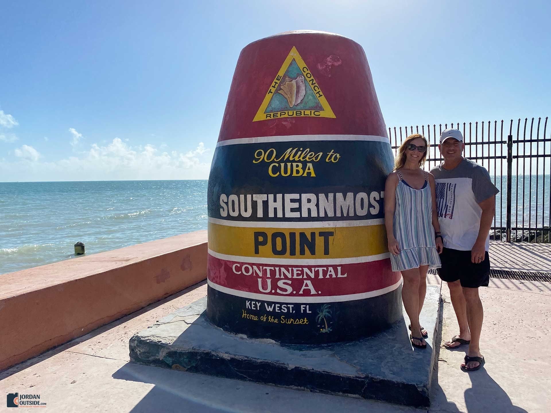 Southernmost Point Buoy Monument in Key West, Florida