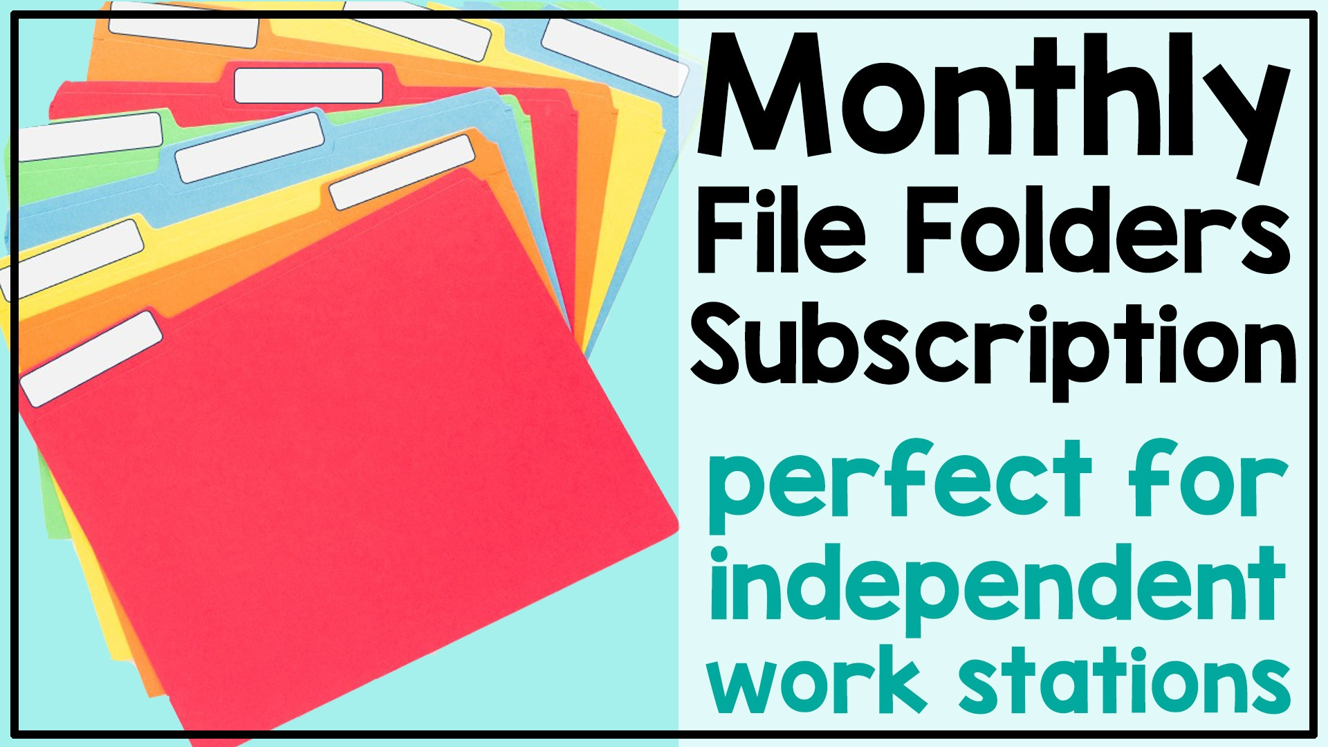 Monthly File Folders Subscription perfect for independent work stations