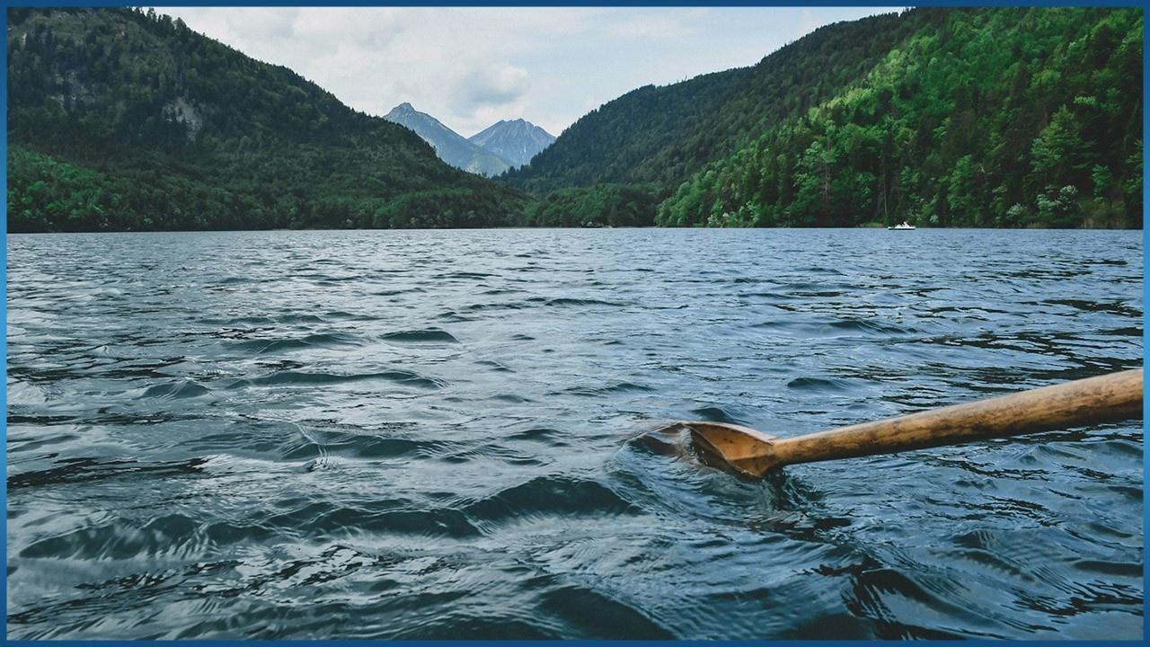 oar in the river