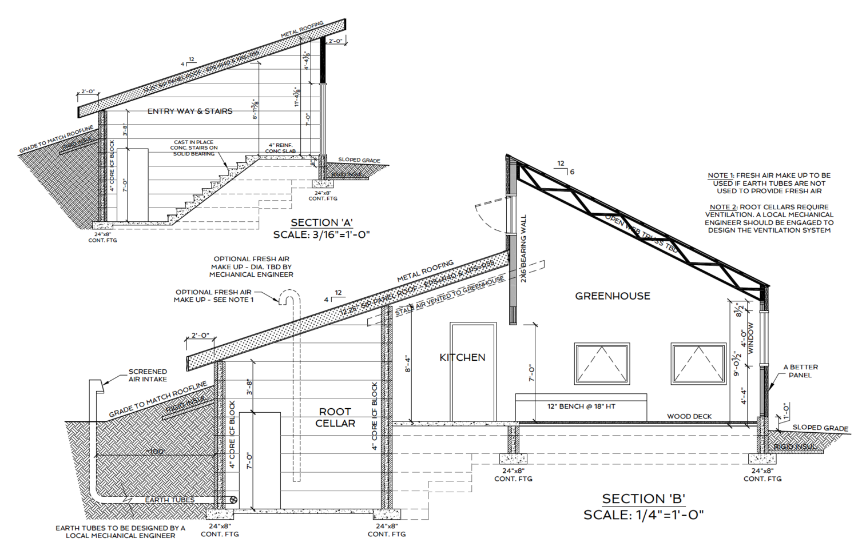 Passive Solar Greenhouse Design Course – Green House Floor Plans