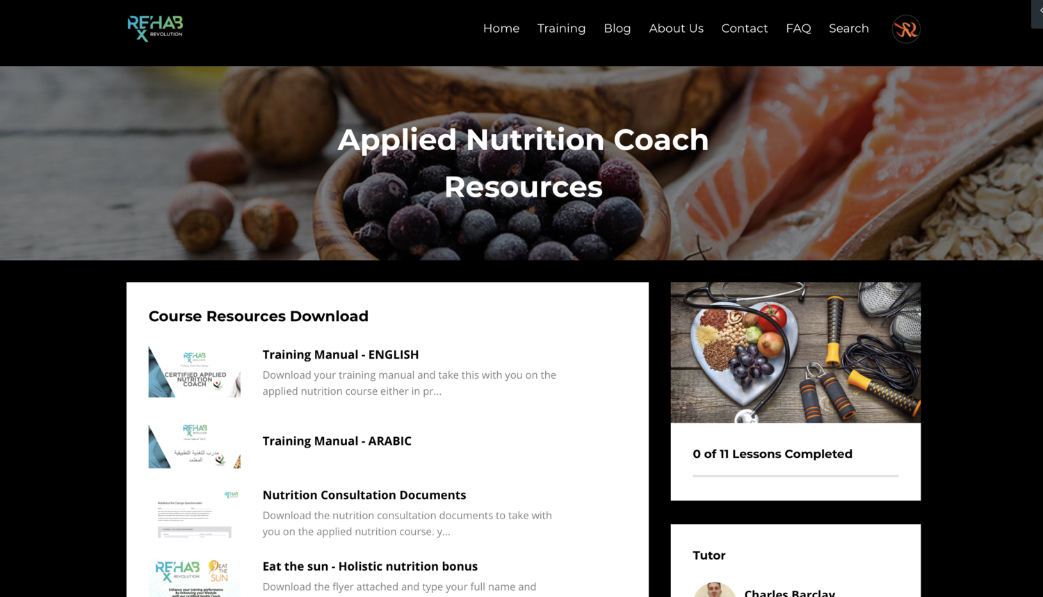 Applied Nutrition Coach
