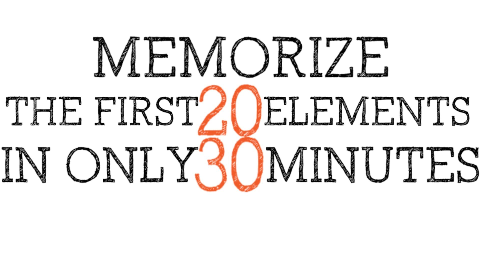 Memorize The First 20 Elements Of The Periodic Table