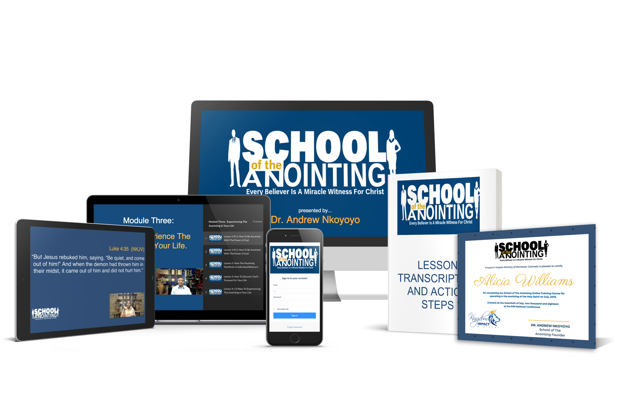 SCHOOL OF THE ANOINTING ONLINE TRAINING COURSE BY DR  ANDREW