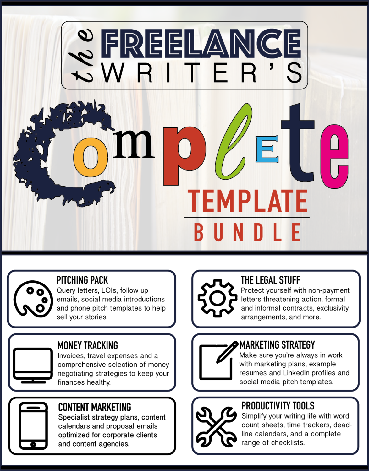 the freelance writer s complete template bundle