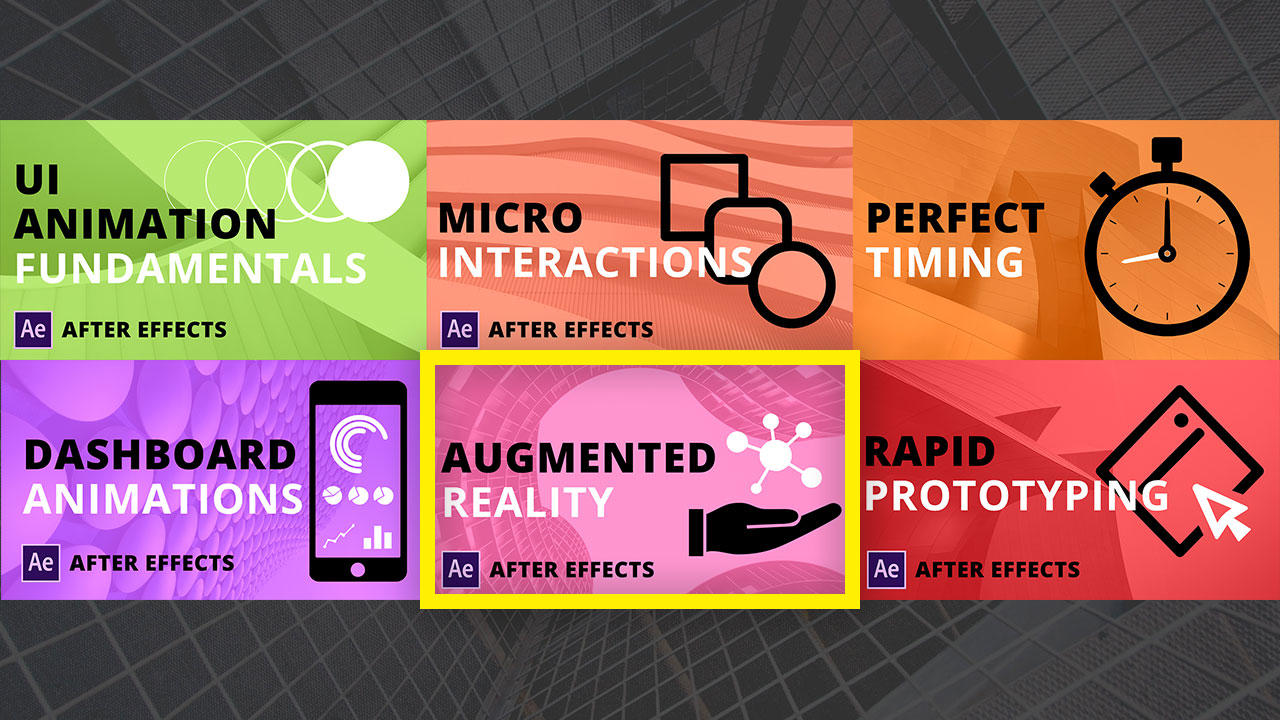 Augmented Reality After Effects UI animation course