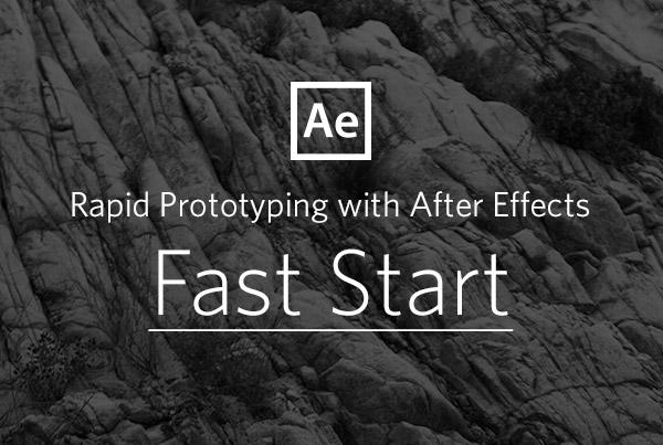 Rapid Prototyping with After Effects UI Animation course
