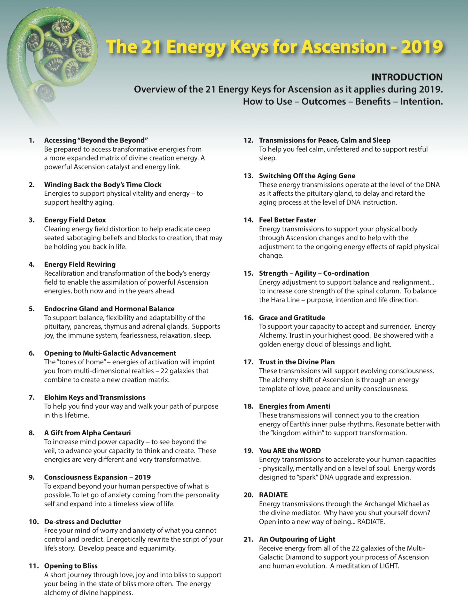21 Energy Activation Keys for Ascension | Judy Satori