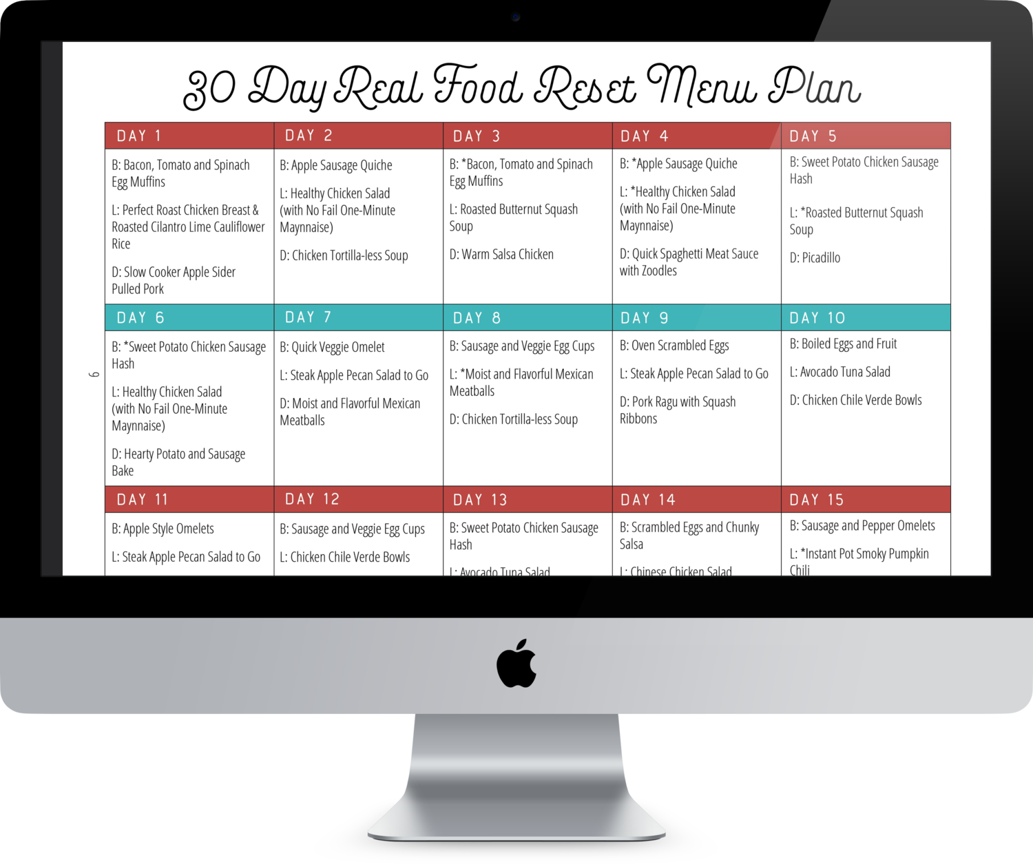 30 Day Real Food Reset