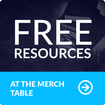 Free resources at the merch table