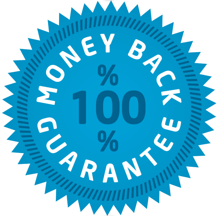 100% Money Back Guarantee Stamp
