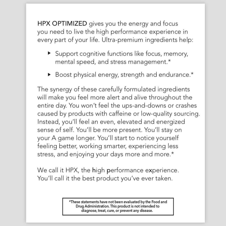 HPX Supplement - HPX OPTIMIZED