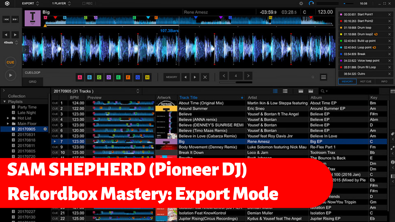Rekordbox Mastery Export Mode with Sam Shepherd Pioneer DJ tips tricks